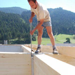 MEGANT Mass Timber Frame Connector Installation