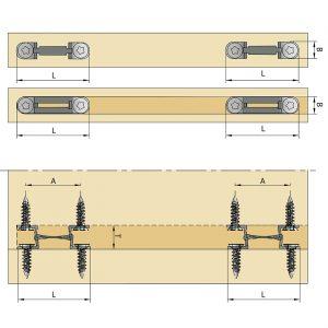 Cabinet Fasteners_Mod-eez Anti-Rotation 5/8