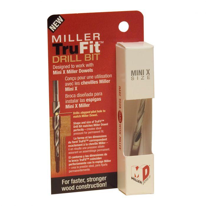 Mini-X Miller Dowel TruFit Drill Bit