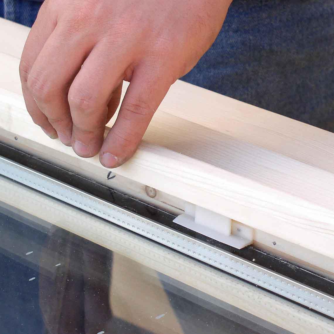 Fixclip for Window glazing installation