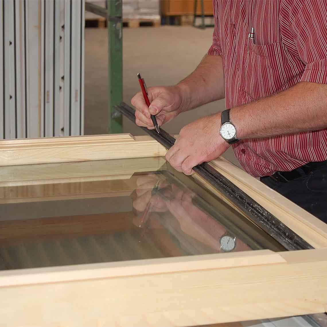 Fixclip profile for Window glazing