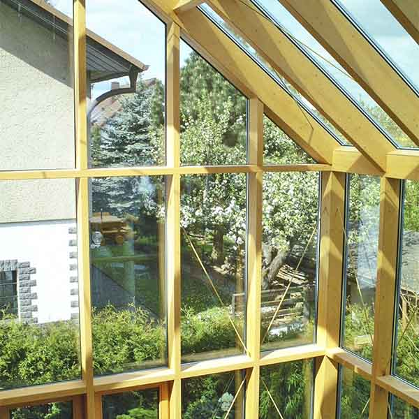 timber curtain wall wood glass facade