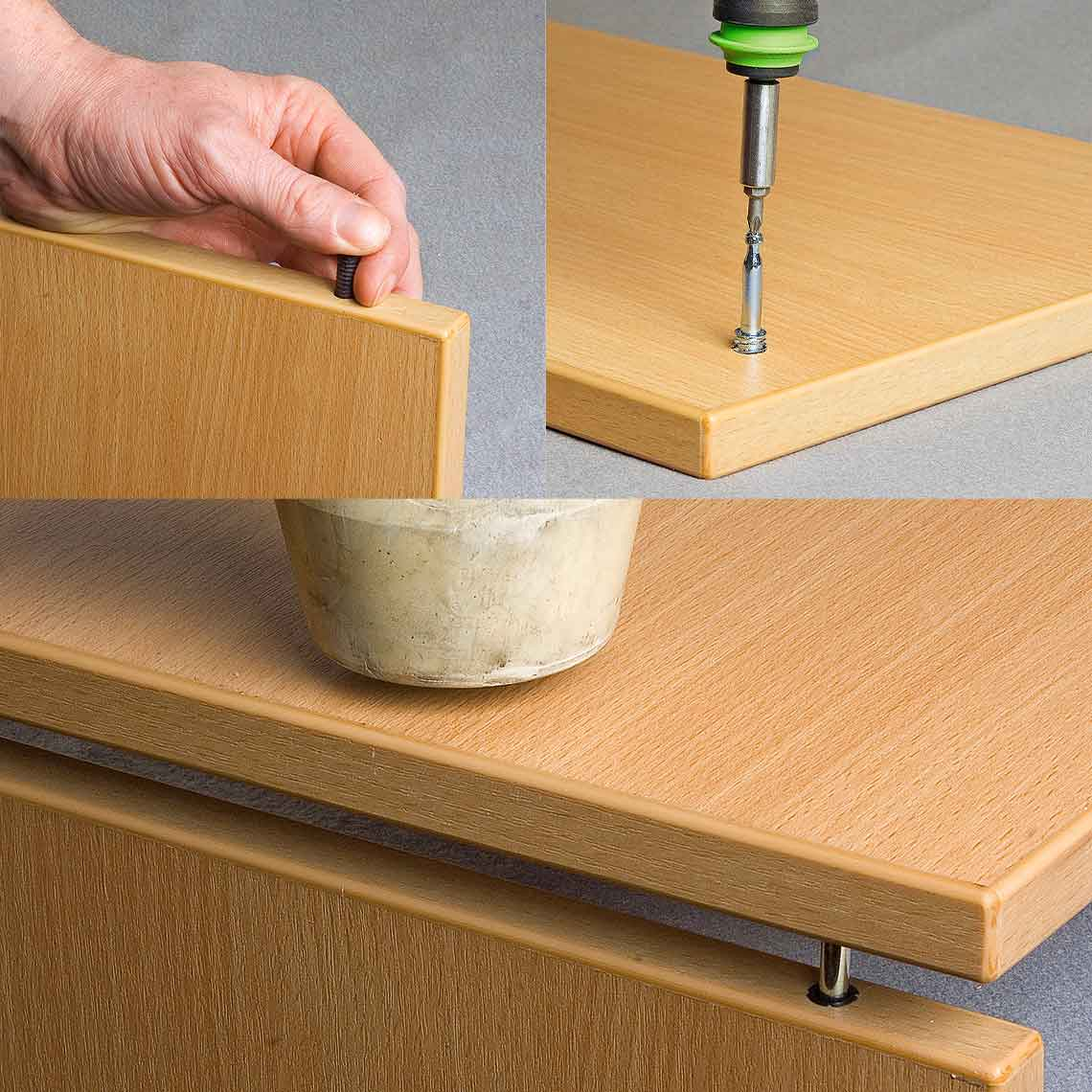 QUICK-SET Locking Dowels for Cabinets