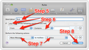Mac Mail Step 4 Email White Listing