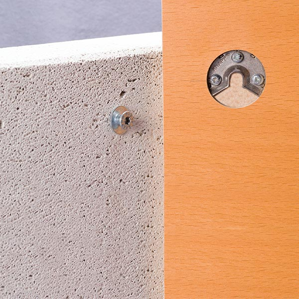 UNO 30 Hook connector for cabinet panels